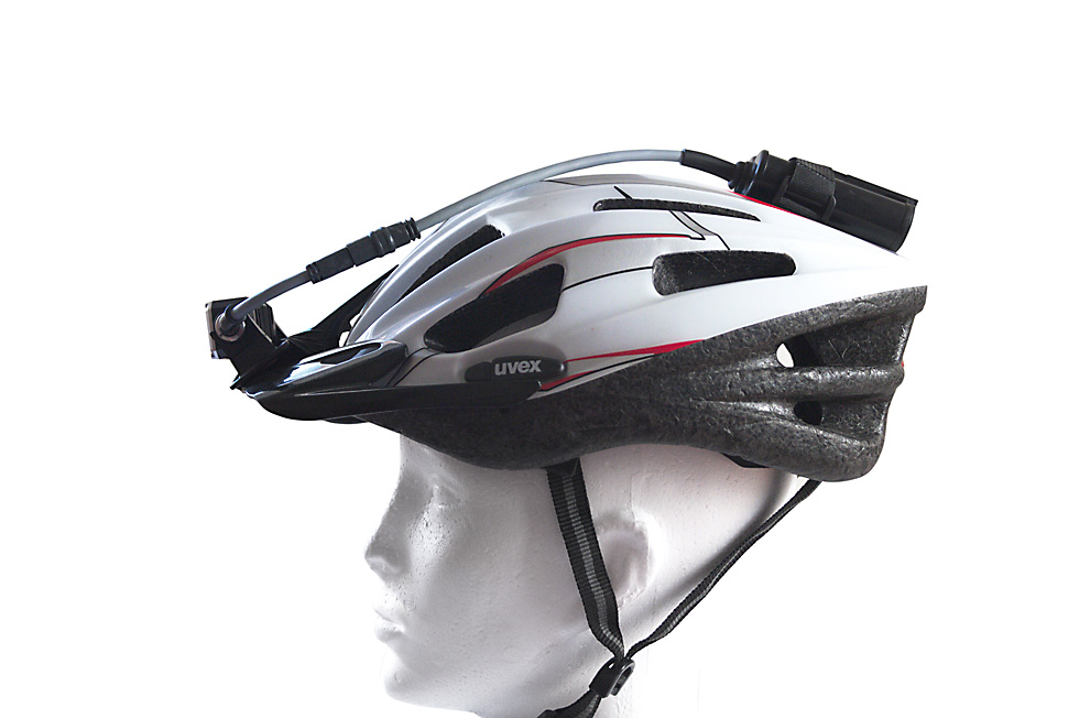 Bicycle helmet headlamp mount 5