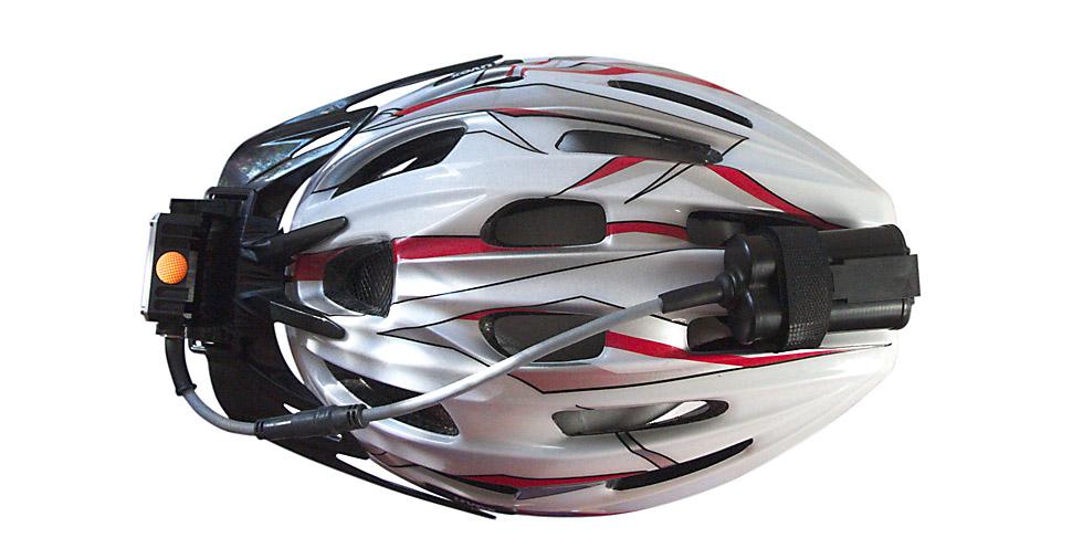 Bicycle helmet headlamp mount 6