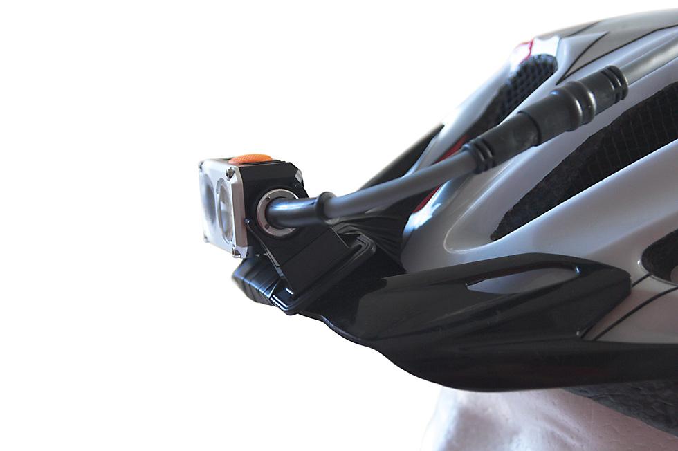 Bicycle helmet headlamp mount 7