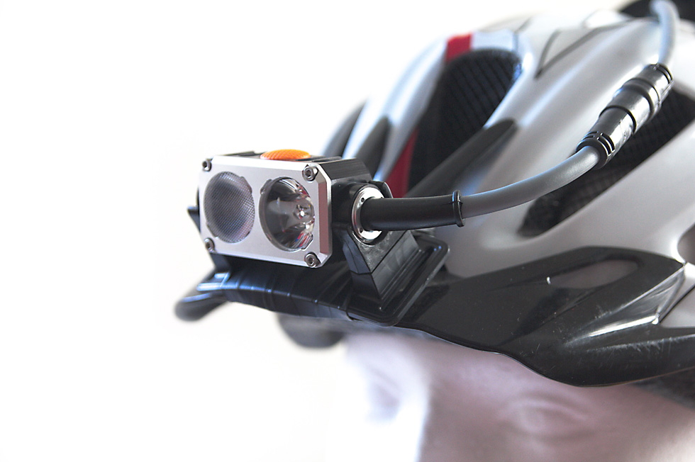 Bicycle helmet headlamp mount 8