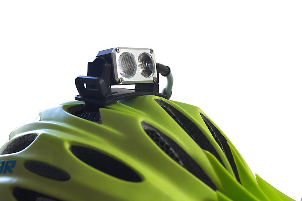Bicycle helmet headlamp mount 1