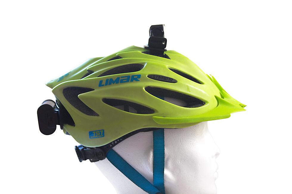 Bicycle helmet headlamp mount 2