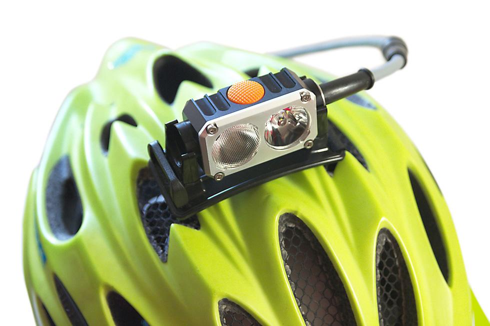 Bicycle helmet headlamp mount 3
