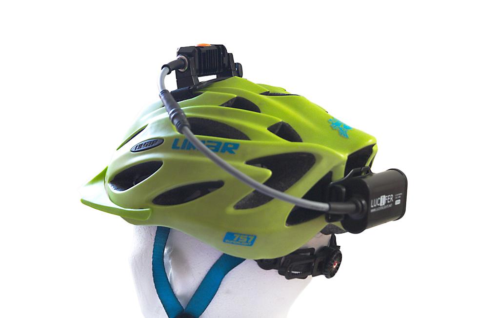 Bicycle helmet headlamp mount 4