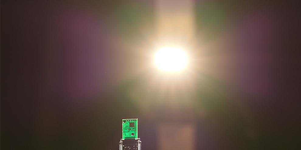 Měření svítivosti čelovek